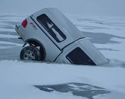 truck through ice